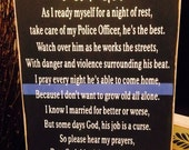 Primitive blue line police officers wife prayer law Enforcement LE Cop