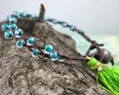 Tassel Bracelet in Waxed Linen from Santosha Collection