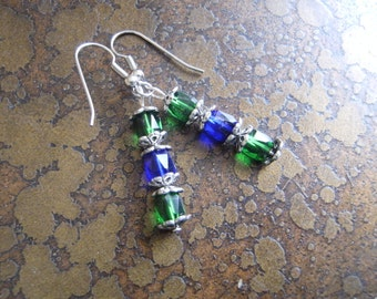 Enchantment Czech Fire Polish Glass Beaded earrings