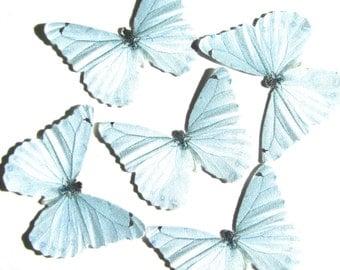24 Light Blueish Gray Butterflies for DIY weddings, DIY butterfly baby shower, butterfly school kit, butterfly wall décor, stocking stuffers
