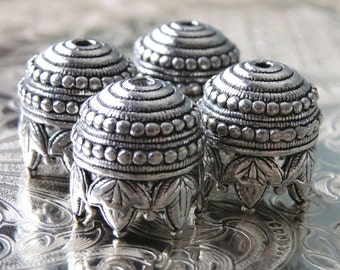 Maharaja Antique Pewter 10mm Bead Cap : 4 pc