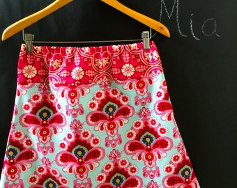 Ready to MAIL -  A-line Skirt - Amy Butler - Will fit Size S up to M - by Boutique Mia