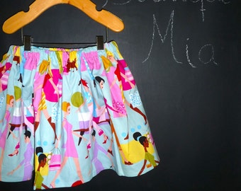 READY to MAIL - Children Skirt - Alexander Henry - Fashionista - Will fit Size 4T to 6 yr - by Boutique Mia and More