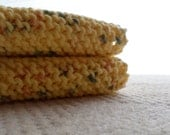Yellow Speckled Cotton Dishcloth