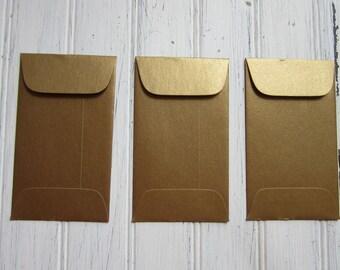 25 Gold Envelopes, Metallic Antique Gold Coin Envelope, Business Card Holder, Gift Certificate Envelopes, Wedding envelopes