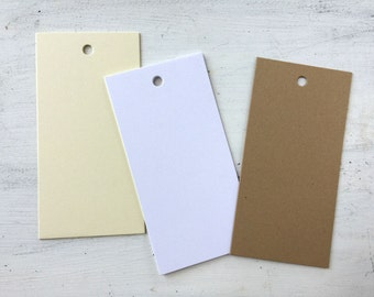 50 Blank Tags, Blank Bookmark Tags, Wedding Escort Tags, Wedding Wish Tags, Blank Scrapbook Tags, Craft Paper Tags, W001