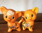 Orange Lamb Cat Dog Salt and Pepper Shaker Set