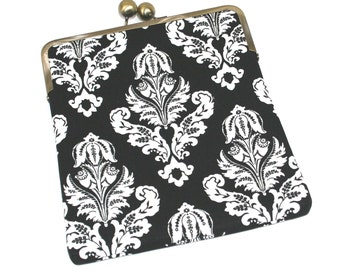 iPad Case, Gift for Women, Gift for Girlfriend, iPad Sleeve, iPad 2 Case, iPAd Air Case - Black Damask- SALE