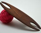 "Weaving Shuttle For Small Weaving Loom Inkle Loom Tablet Weaving Card Weaving Detail Work - Handcrafted Weaving Tool - Mahogany 3.875"""