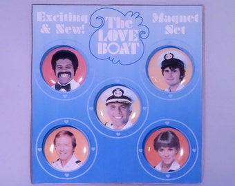 The Love Boat classic TV refrigerator magnets