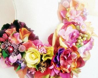 Belles Fleurs-  OOAK Neckpiece - Ready to ship xx