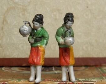 Vintage Japan Small Figures Bonsai Terrarium Size
