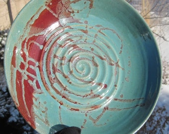 Large Colorful Bowl - Handmade Pottery