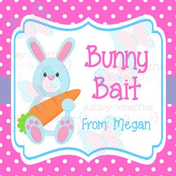 It is a picture of Playful Bunny Bait Printable