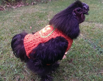 Chicken sweater, chickens, hens, roosters, sweaters, crochet, October, Halloween