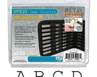 27 or 54 Piece Uppercase/Lowercase Courier Font Alphabet Letters Stamping Punch Set For Metalworking 4mm