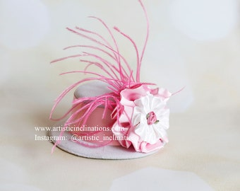 Smash the Cake - Mini Top Hat - Photo Prop Pink and White