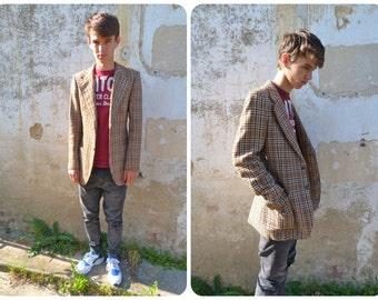 Hommes de laine chic vintage 1970/1980 veste taille S/M