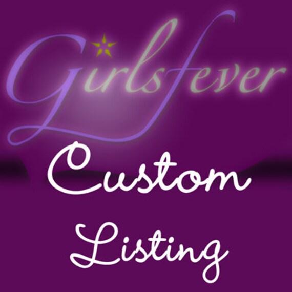 Custom listing for  SLEEPINGJOEYDESIGNS