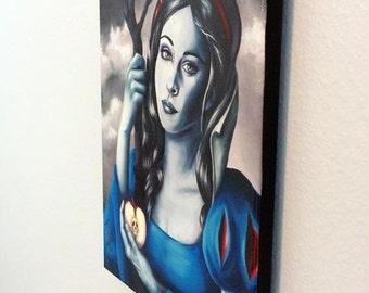 Snow White Canvas Print Snow White Art 10x13 Fairy Tale Art