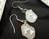 Sea Glass Earrings  Sea Glass Jewelry E-113