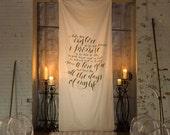 Calligraphy Wedding Vow Fabric Backdrop | Custom listing for Shelley Gay