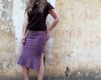 Organic Salwar Pencil Below Knee Skirt ( light hemp and organic cotton blend ) :