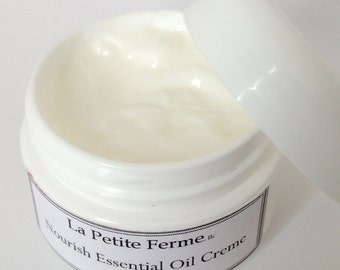 Pure Facial & Eye Creme  peptides, hyaluronic acid and Rose Otto essential oil - esthetician formulated - Nourish Travel Size