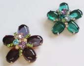 RESERVED LISTING! Vintage Jelly Belly Brooch, Lucite Jewelry, Flower Brooch, Green Lucite Brooch, Lavender Jewelry
