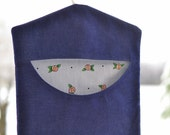 Classic Denim Clothespin Bag, Plastic Grocery Bag Holder or Storage Bag with Mary Engelbreit Lining