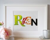 Personalized Broadway Show / Musical Logo Name Art 8x10
