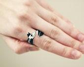 Skeleton Fox Wrap Ring