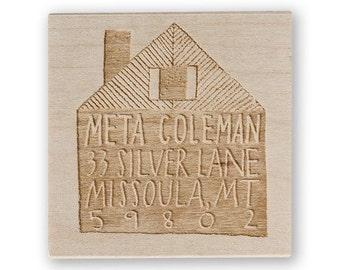 Cabin Custom Stamp