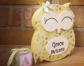Freestanding Personalised Owl