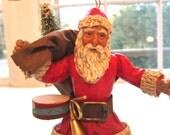 Paper Mache Santa Ornament