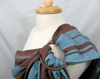 SALE - Wrap Conversion Ring Sling Baby Carrier - Twill Weave Pleated Shoulder - DVD included