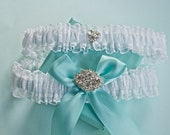 Garters, Garter Set, Something Bridal Blue, Something Old, Something New, Something Exquisite Bride Garter Set