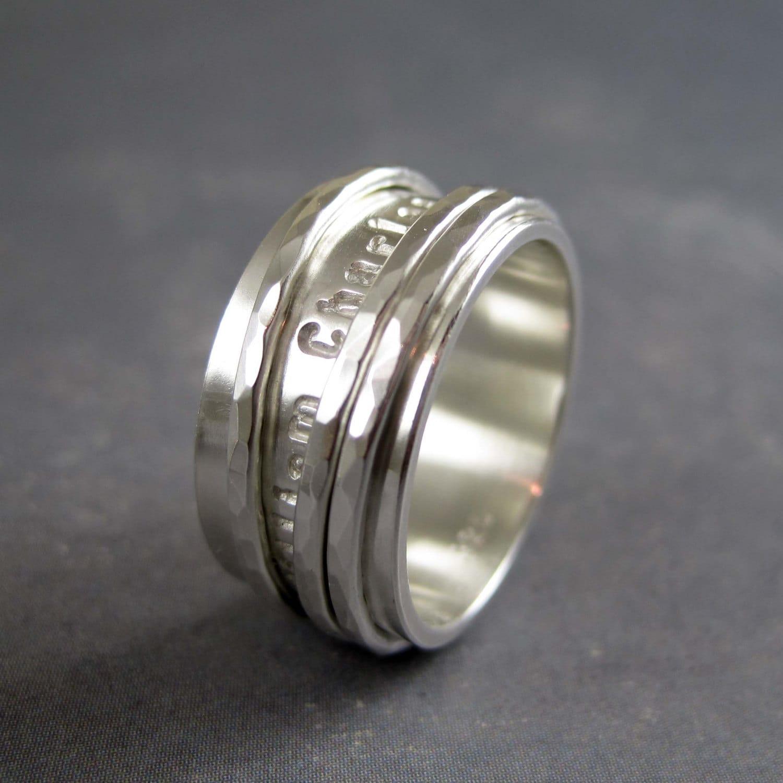 Custom inscription spinner ring Personalized spinner ring