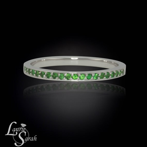Eternity Band, Tsavorite Garnet Half Eternity Band - LS566