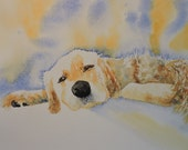 "Pet Portraits-Painting of Dog-Painting of Cat-Watercolors from your Photographs-Dogs, Cats, Horses, Birds-11"" x 14"""