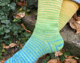 Race to the Cookie Jar Gradient Stripes Matching Socks Set, 2-57g Cakes, Lavish (dyed to order)