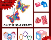 CRAFT KITS for KIDS - 6 Kits for Little Kids - All Supplies Included! - Make A Gift -For Mother's/Father's Day, Grandparents, Birthdays