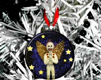 "Day of the Dead Skeleton Angel   2.25"" Ornament"