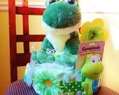 Frog Diaper Cake Centerpiece Baby Shower Gift