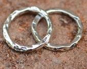 Artisan 15mm Links in Sterling Silver, Rustic Links, 164s