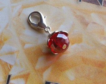 Red Crystal Beaded Dangle Charm