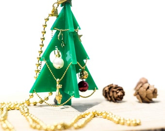 Christmas Tree Necklace,Christmas Jewelry