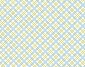 Tanya Whelan Delilah Picnic Check in Blue tw38-blue cotton quilt fabric FAT QUARTER FQ