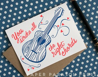 All the Right Chords Love Card