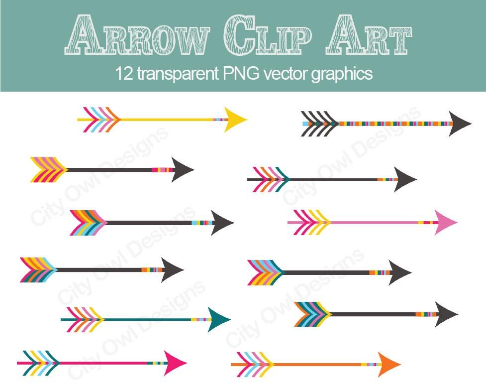 Vintage Arrow Clip Art Circus Theme Arrow Clip Art